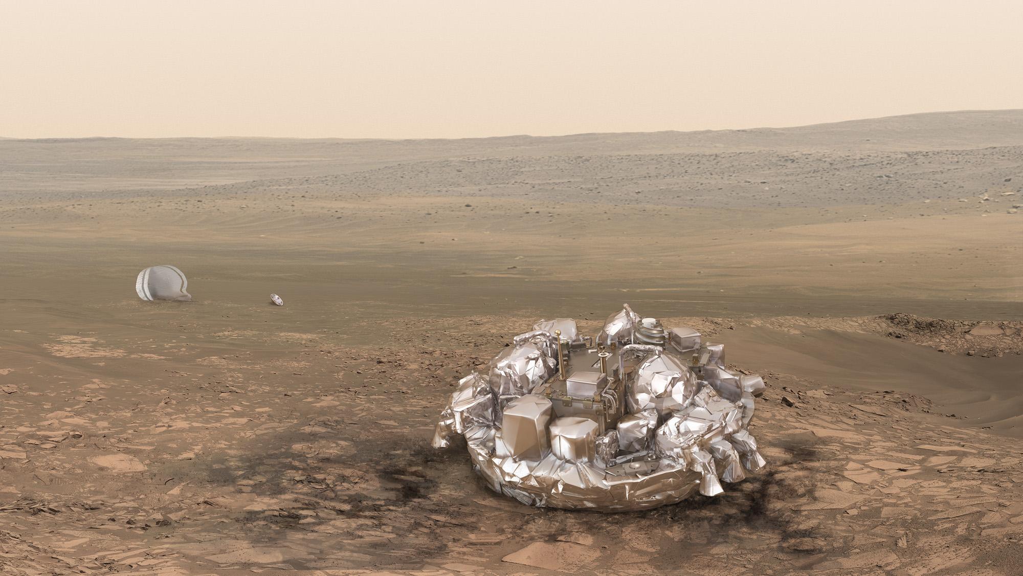 European Spacecraft Reaches Mars Orbit, But Lander's Fate Uncertain