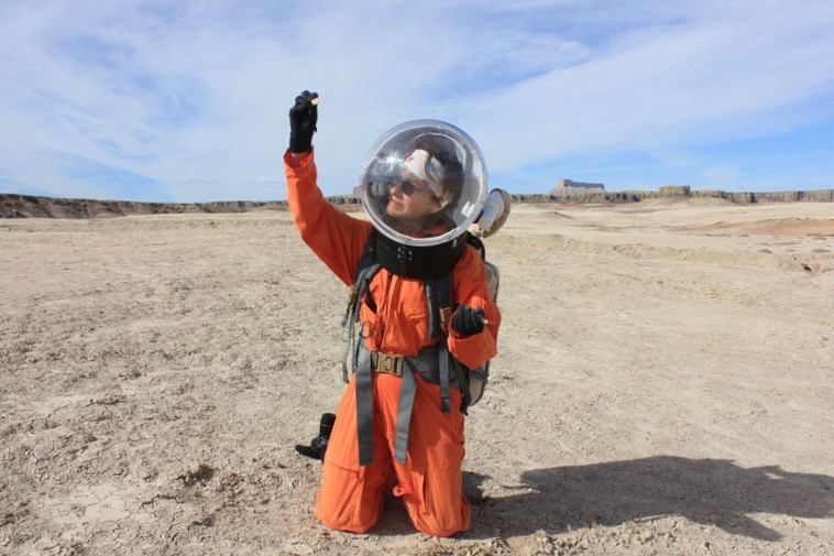 Taking an EVA with the Mars 160 Crew