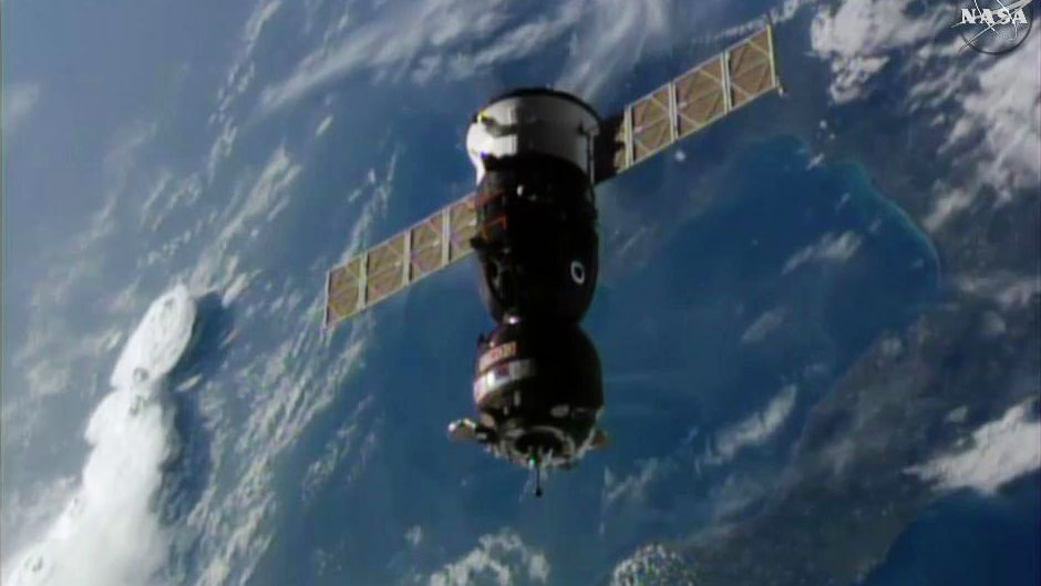 New US-Russian Crew Arrives at International Space Station