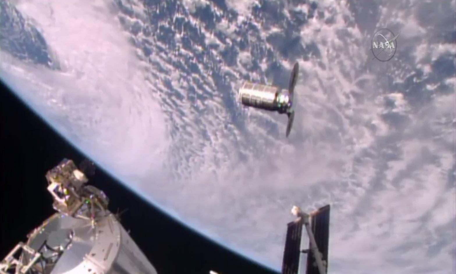 Orbital ATK Cygnus Supply Ship Arrives at Space Station