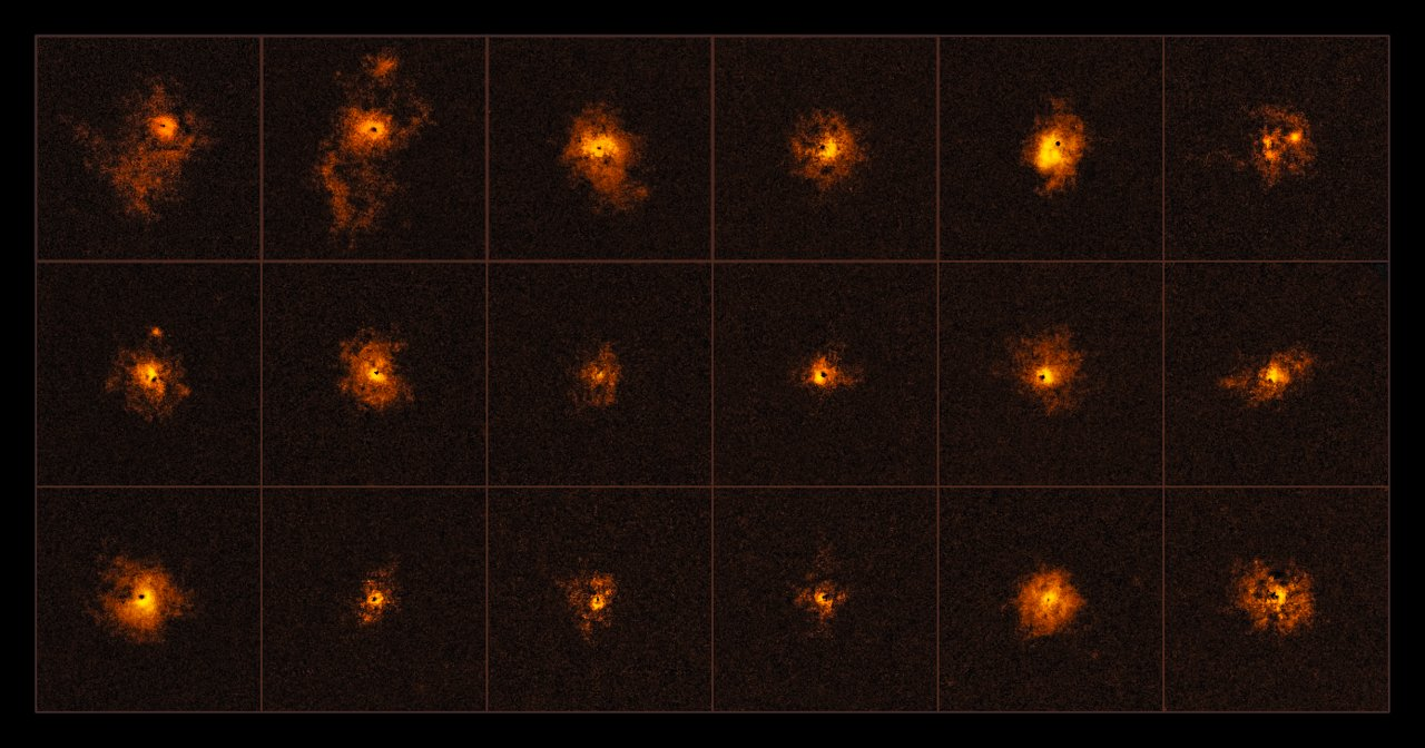 Surprise! Cold Gas 'Halos' Found Around Brightest Objects in Universe