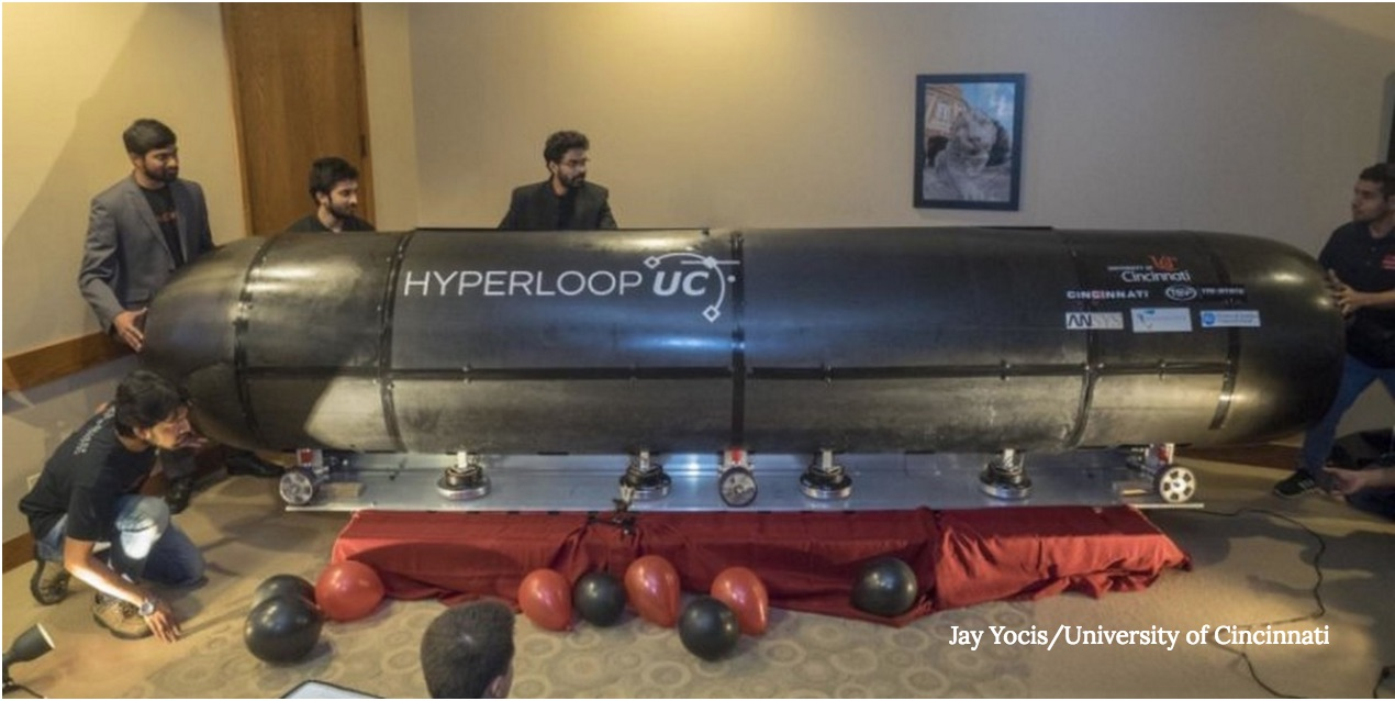 Hyperloop Pod Hovers for the