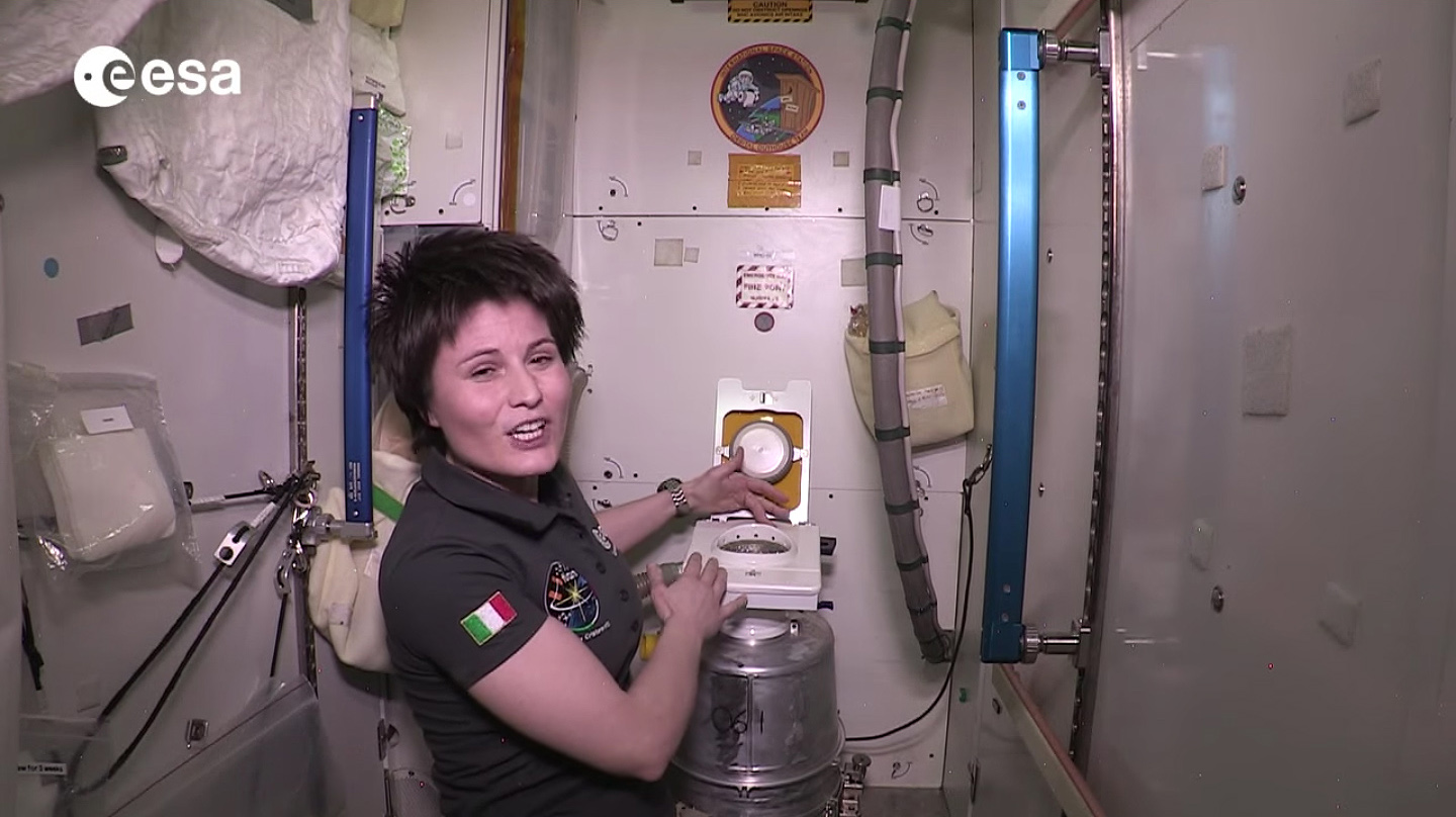 1) How do you go to the bathroom on the ISS?
