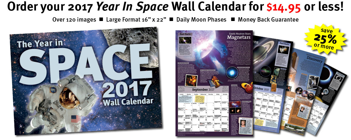 2017 Year In Space Calendar