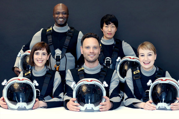 "The international Daedulus crew in ""MARS."""