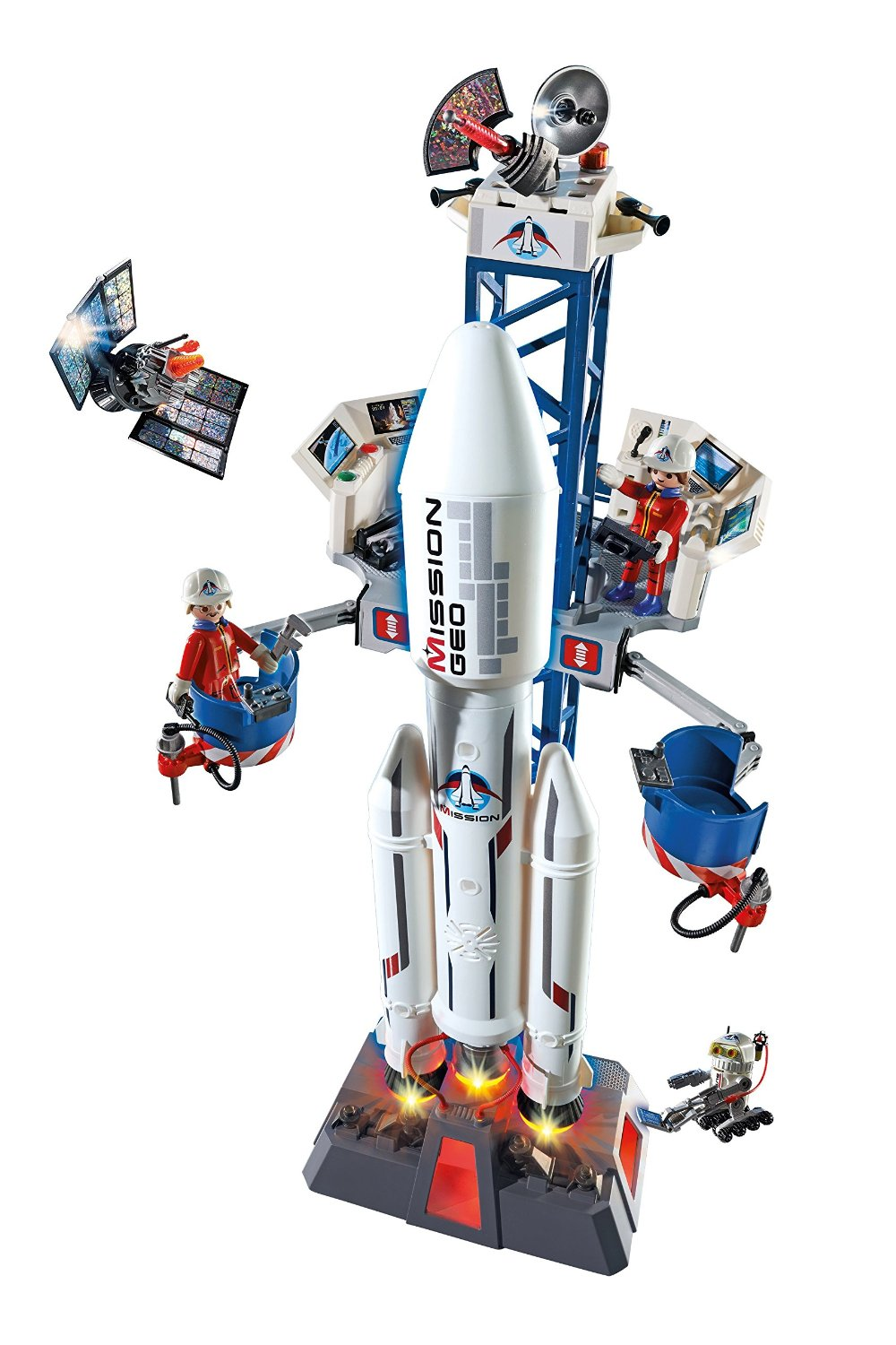 Space Rocket with Launchpad Play Set