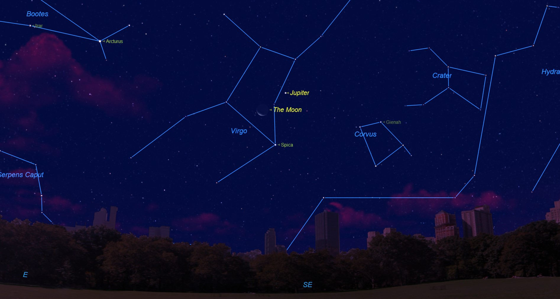The Thanksgiving Sky: Jupiter and the Moon Meet Up Early Thursday