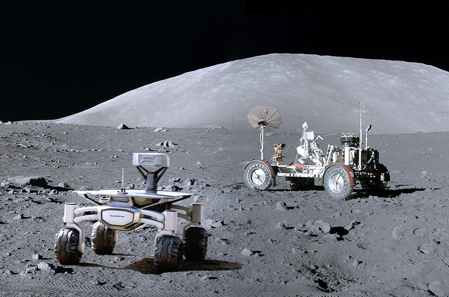 Moon Race Team Reserves Rocket To Land Rovers Near Apollo