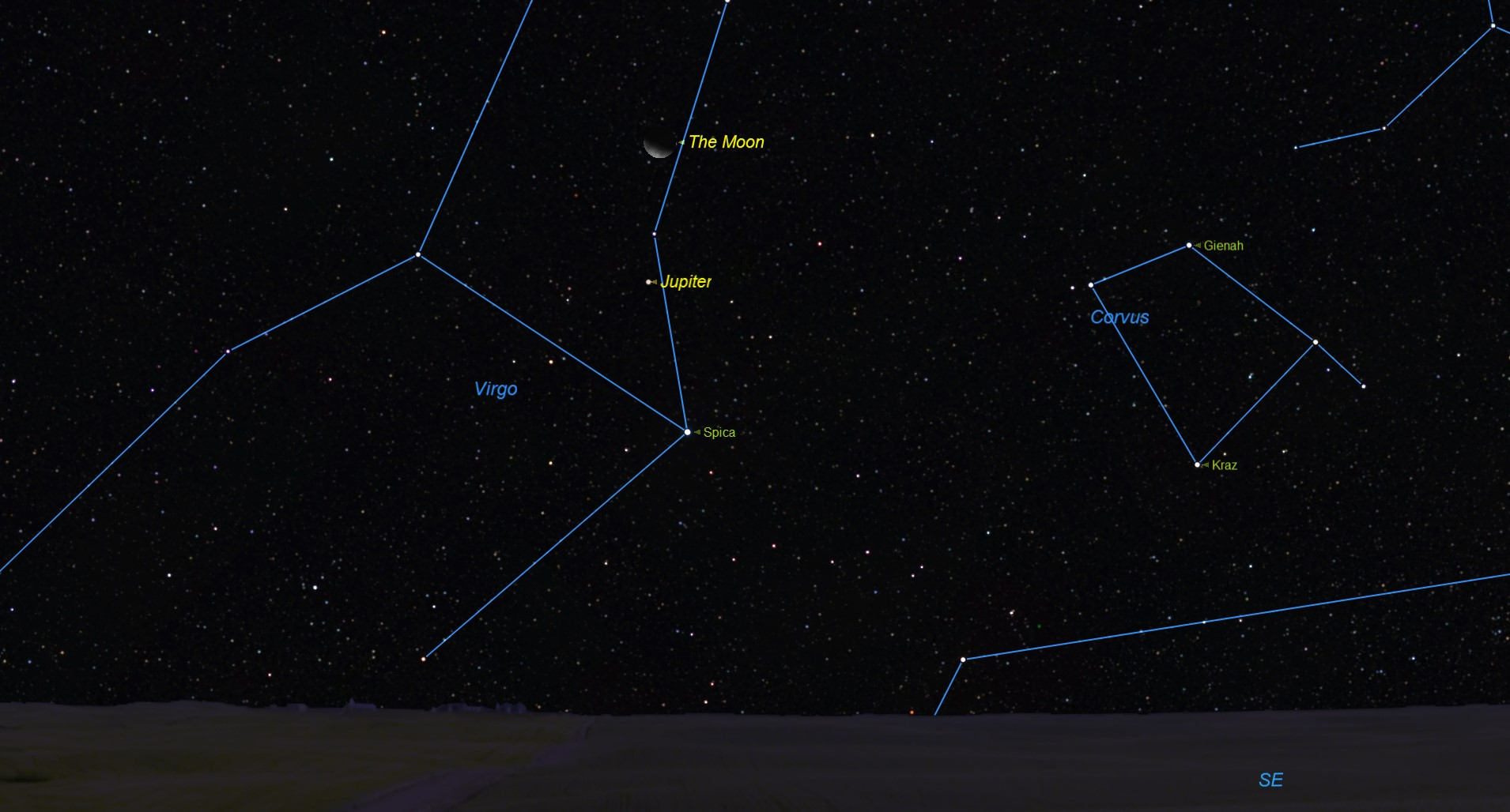 See Jupiter, Moon and Star Spica in the Pre-Dawn Sky Thursday