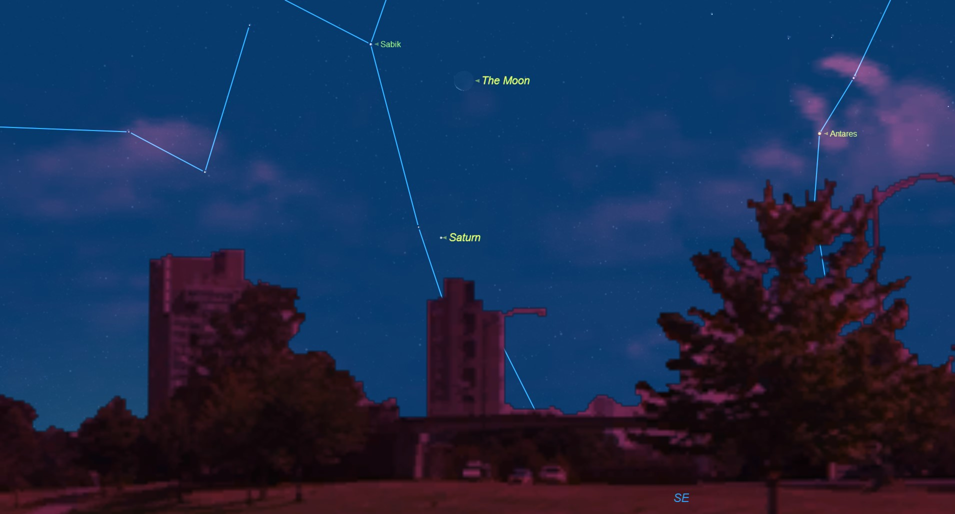 How to See Saturn and the Moon in Tuesday's Pre-dawn Sky