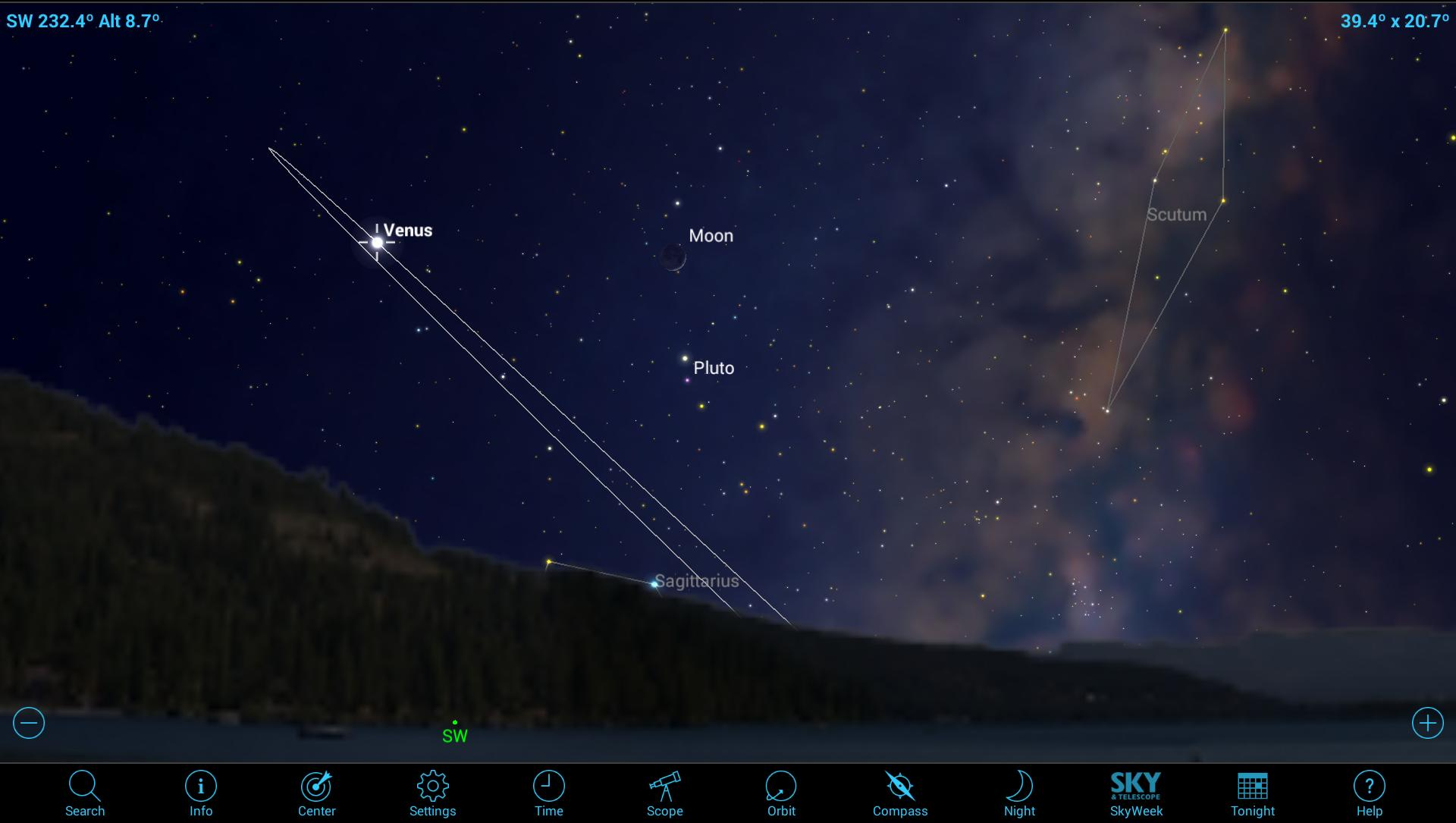Admiring the Beauty of Venus with Mobile Astronomy Apps