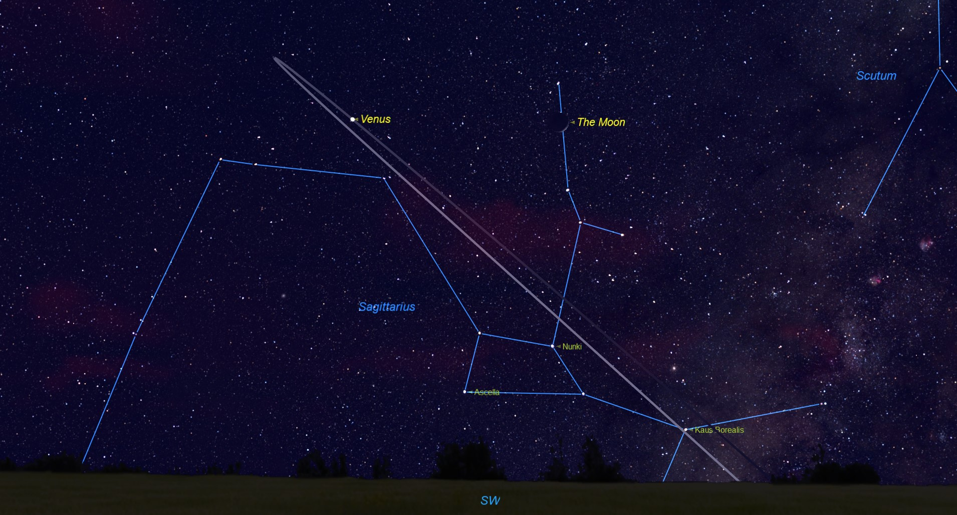 See Venus and the Moon Pair Up Saturday Night