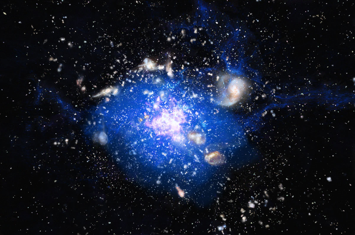 Galactic 'Spiderweb' Has Unusual Feeding Habits