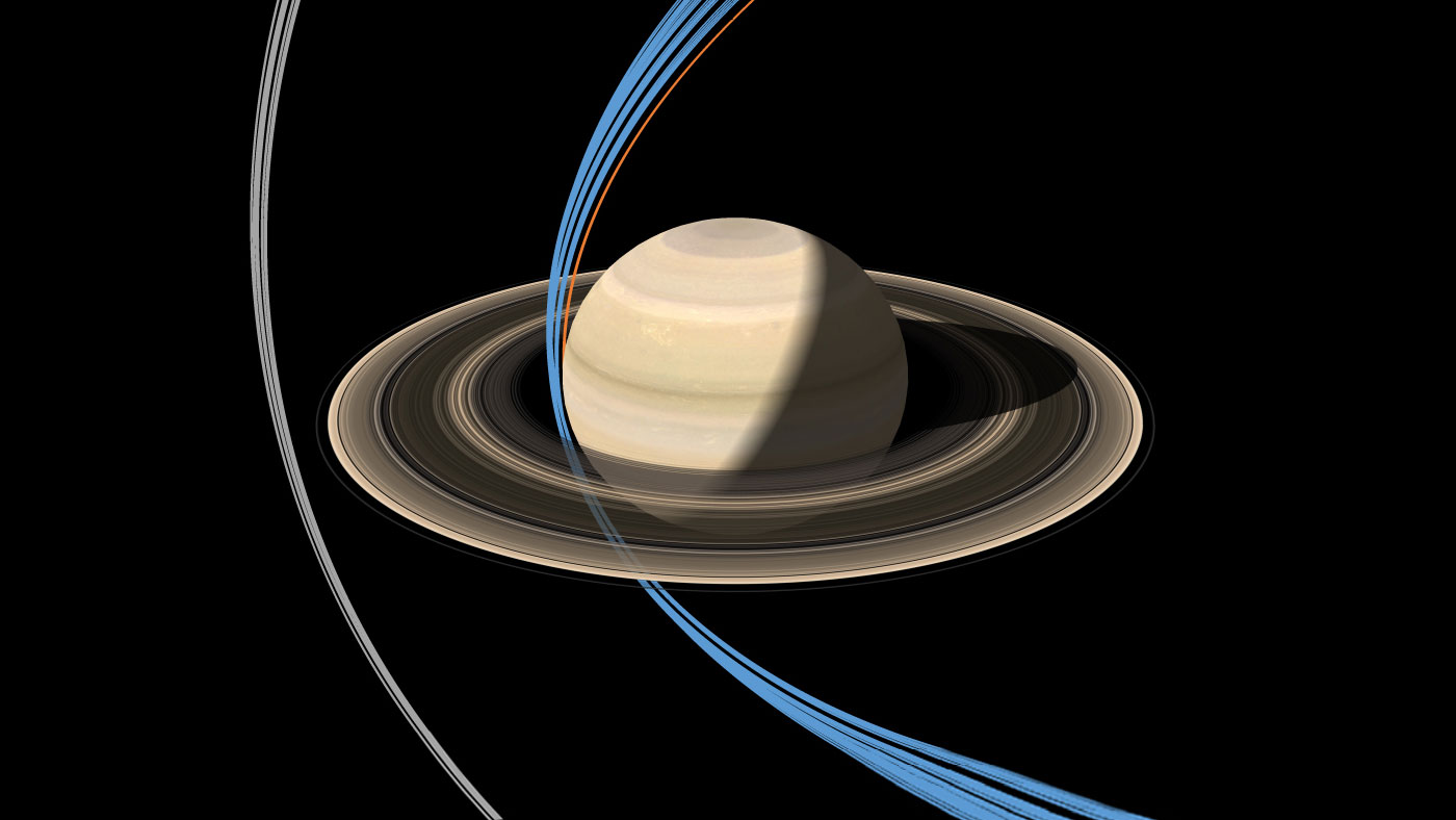 Saturn Probe Dives Past Rings for 1st Time