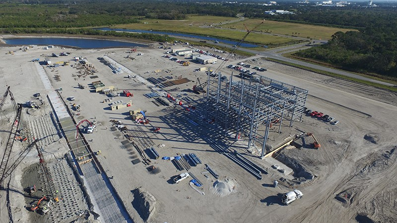 Blue Origin's Giant Rocket Facility is Taking Shape in Florida