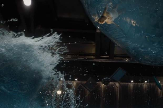 Swimming in a Starship Pool?  Gravity Loss Would Be Bad - 'Passengers' Film Clip