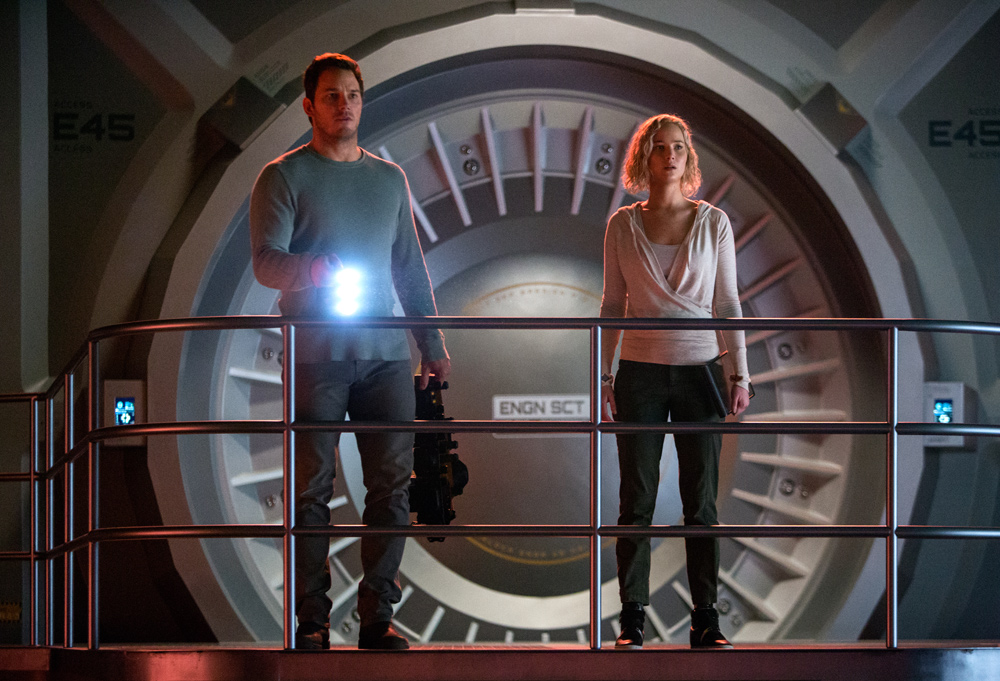 Chris Pratt, Jennifer Lawrence Beam Up! 'Passengers' Heads to Space Station