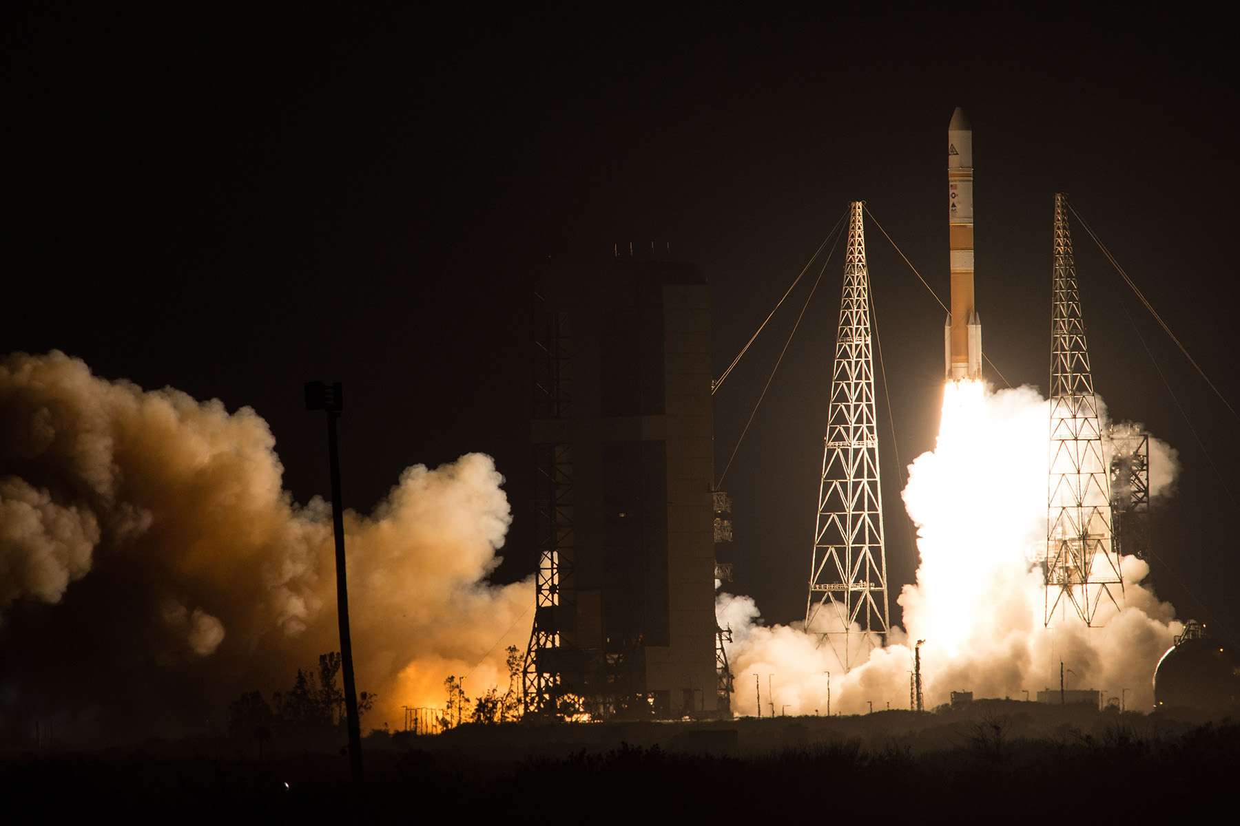 WGS-8 Delta IV Rocket Launch From Cape Canaveral