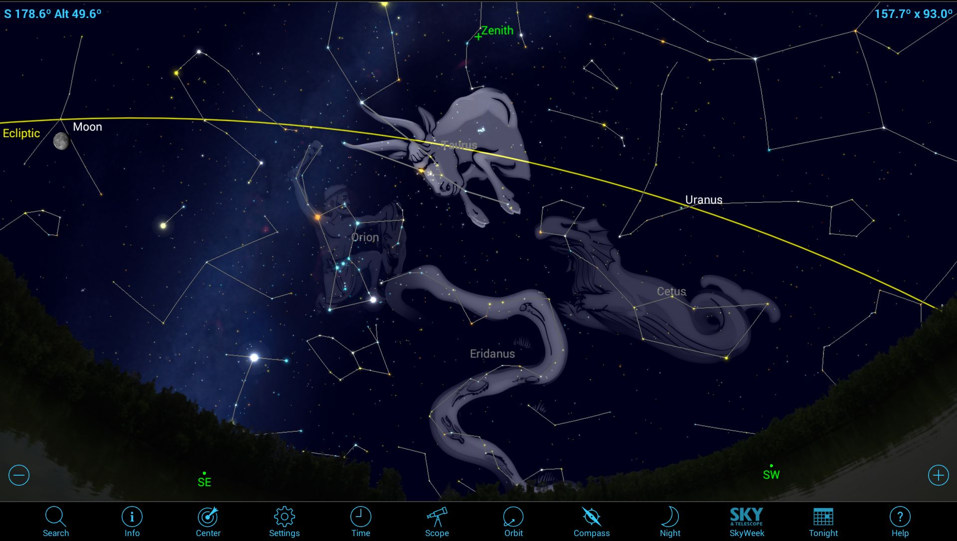 Touring the Treats of Taurus Using Mobile Astronomy Apps
