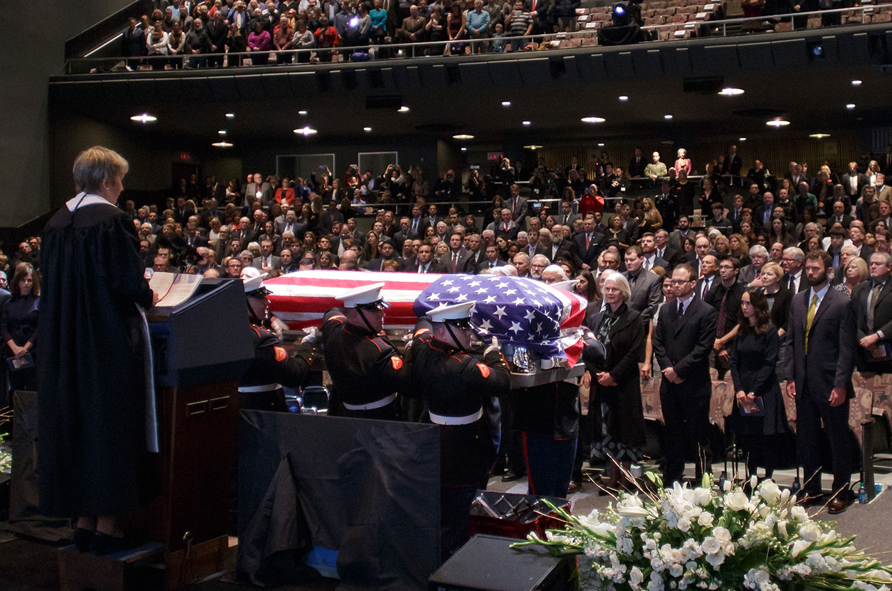 'He Made Us Look Up': John Glenn's Legacy Celebrated at Memorial Service