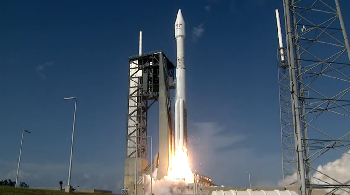 Atlas V Rocket Launches EchoStar 19 Broadband Internet Satellite Into Orbit