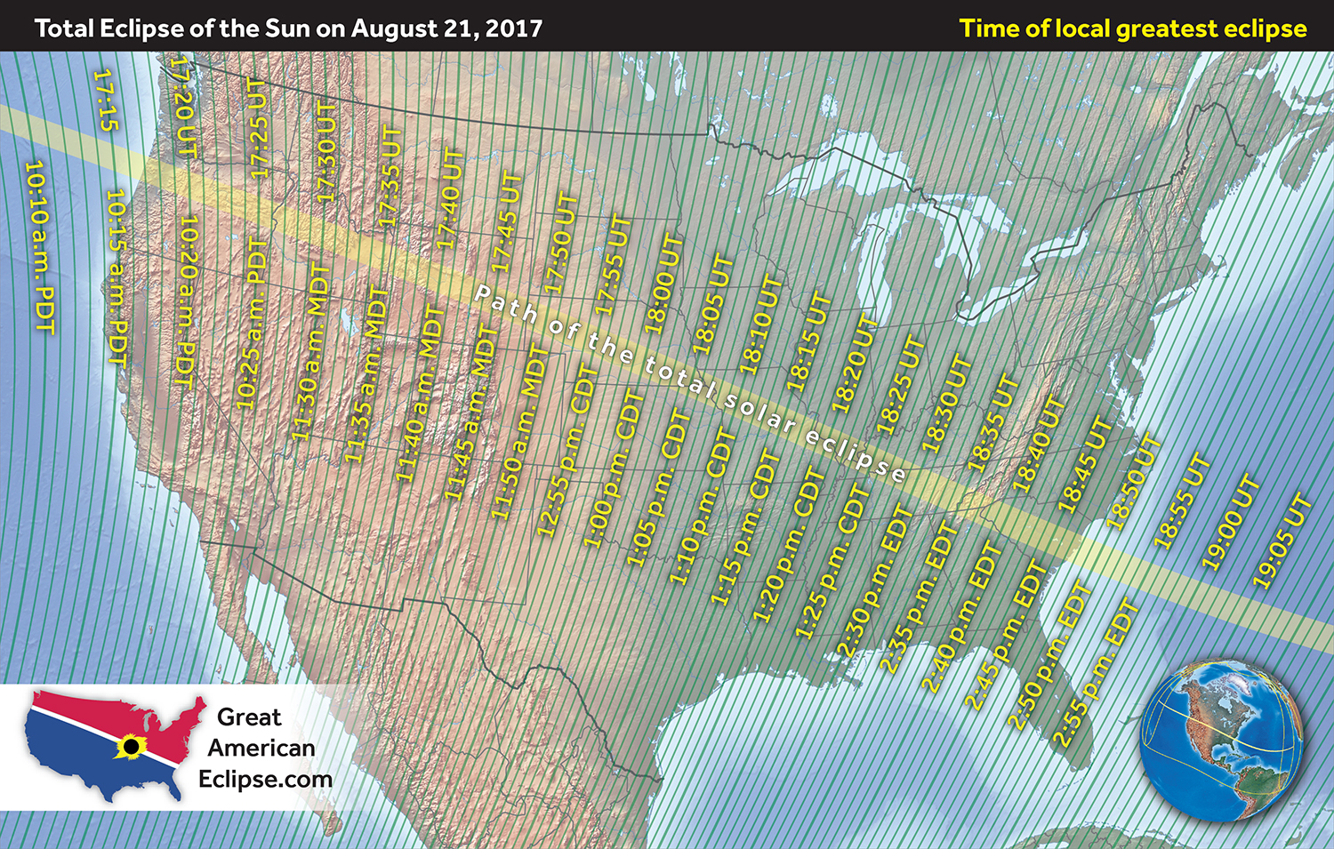 Aug. 21 - Total Eclipse of the Sun