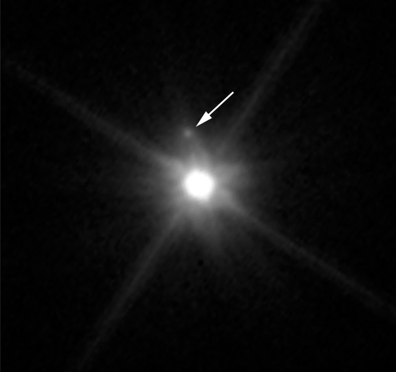 The dwarf planet Makemake that orbits the sun beyond Pluto was discovered to have a tiny companion satellite.