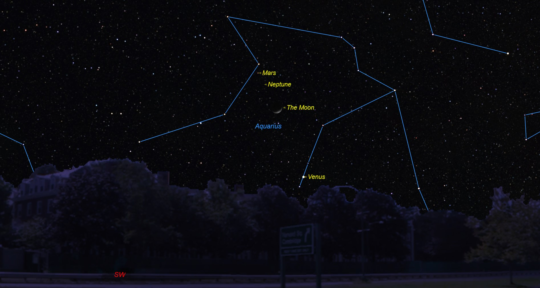 planets in the sky on january first 2017 - photo #43