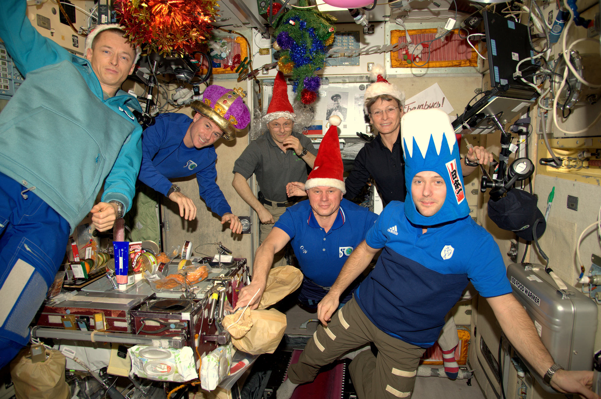Astronauts Ring in the New Year with Space Station Shenanigans