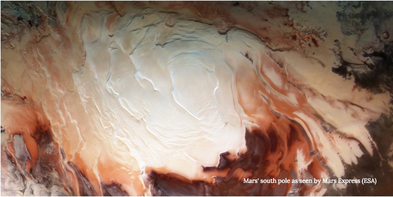 Spacecraft 'Sees' the Mysteries Buried Under the Polar Ice Caps of Mars