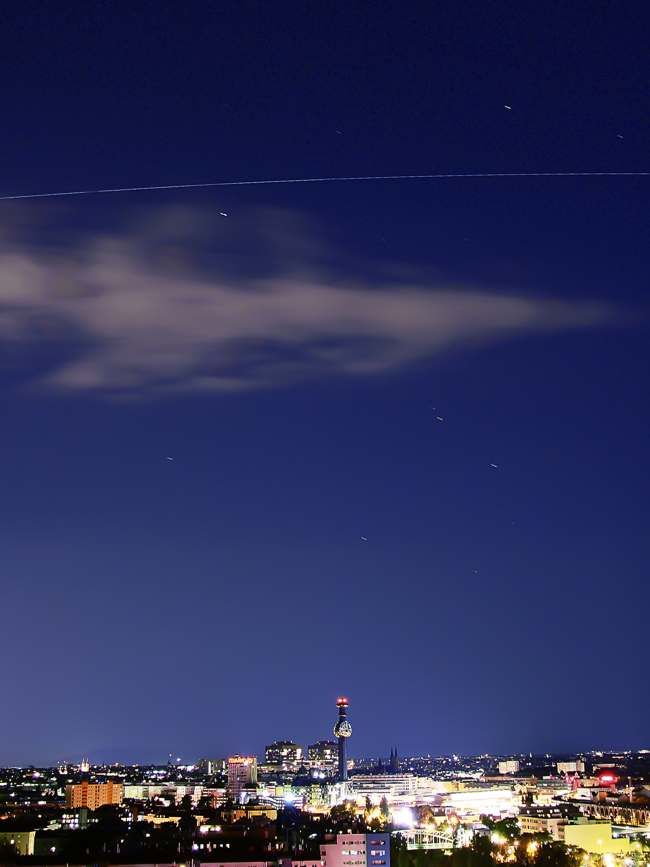 Lucky Shot! Skywatcher Captures Space Station Soaring Over Vienna