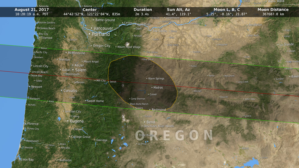 Moon Probe Helps NASA Map Path of 2017's Great American Total Solar Eclipse