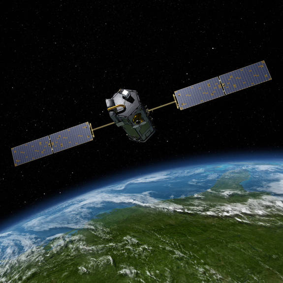 Artist's rendering of NASA's Orbiting Carbon Observatory (OCO)-2, a NASA Earth science missions launched in 2014.