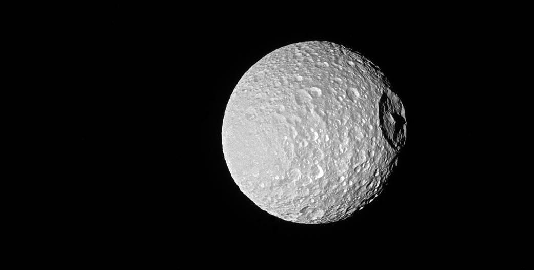 The Peak on Saturn's 'Death Star' Moon Mimas