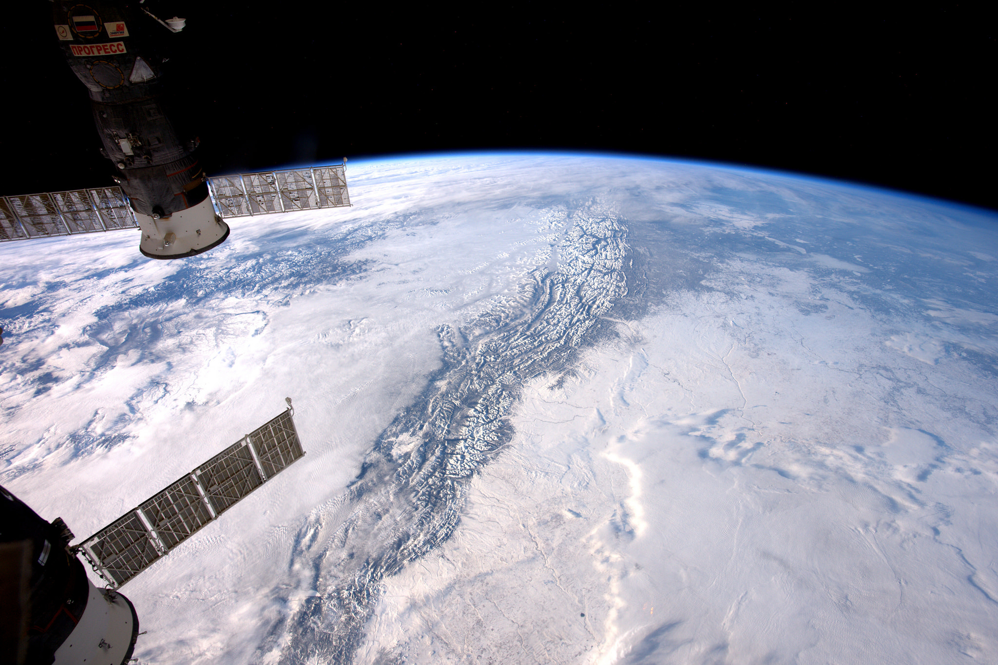 Astronaut's View of the Rocky Mountains from Space Is Just Amazing