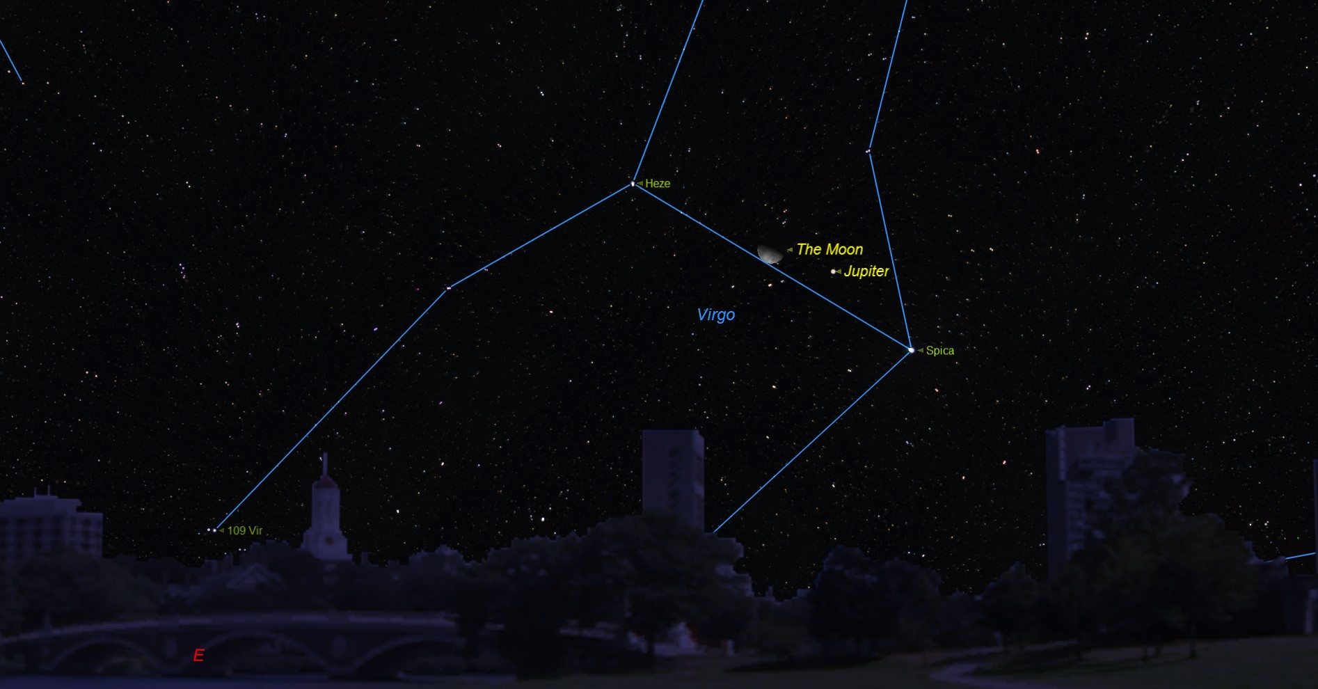 Moon Meets Jupiter and Bright Star Before Dawn on Thursday