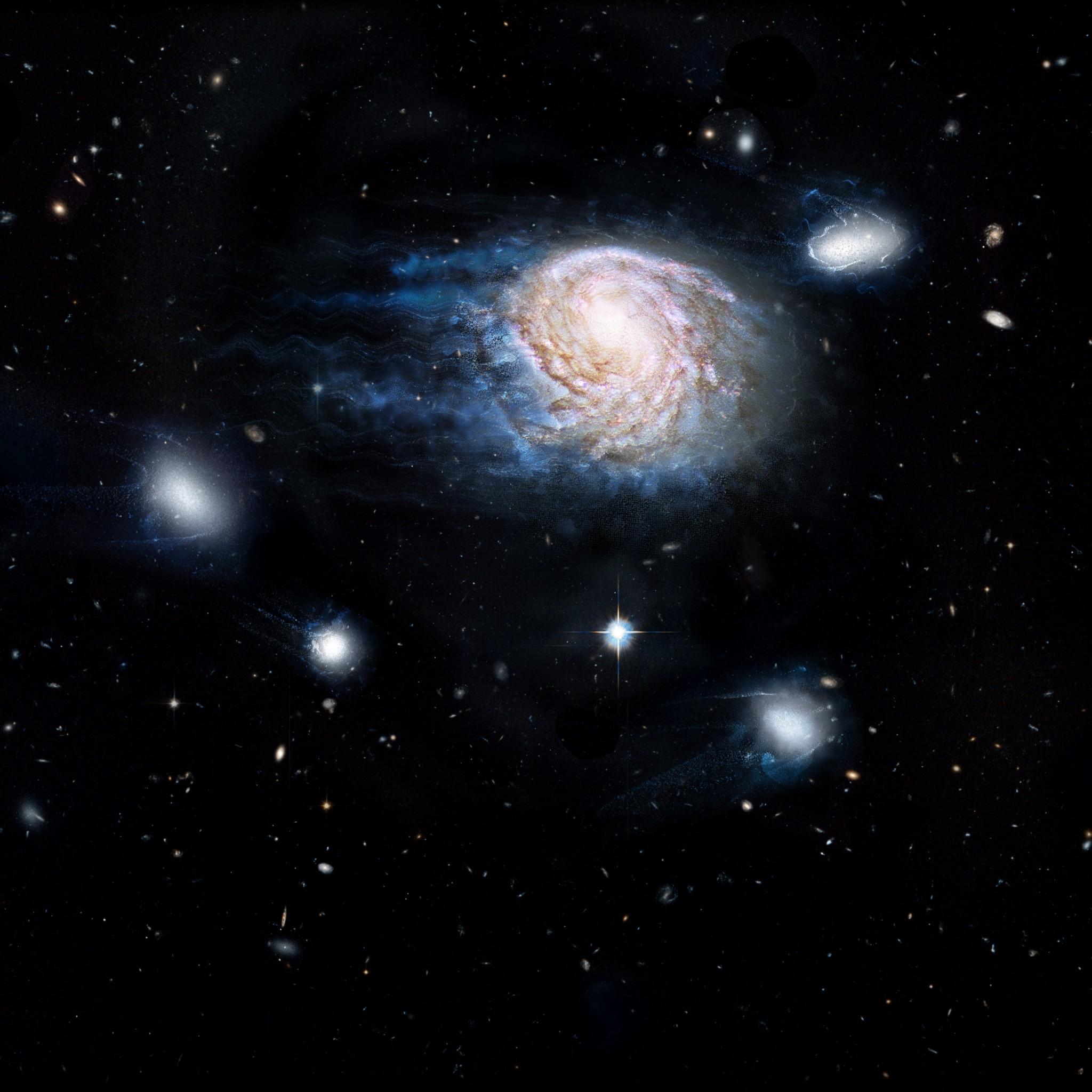 Cosmic Whodunit: Gas Stripping May Be Killing Galaxies