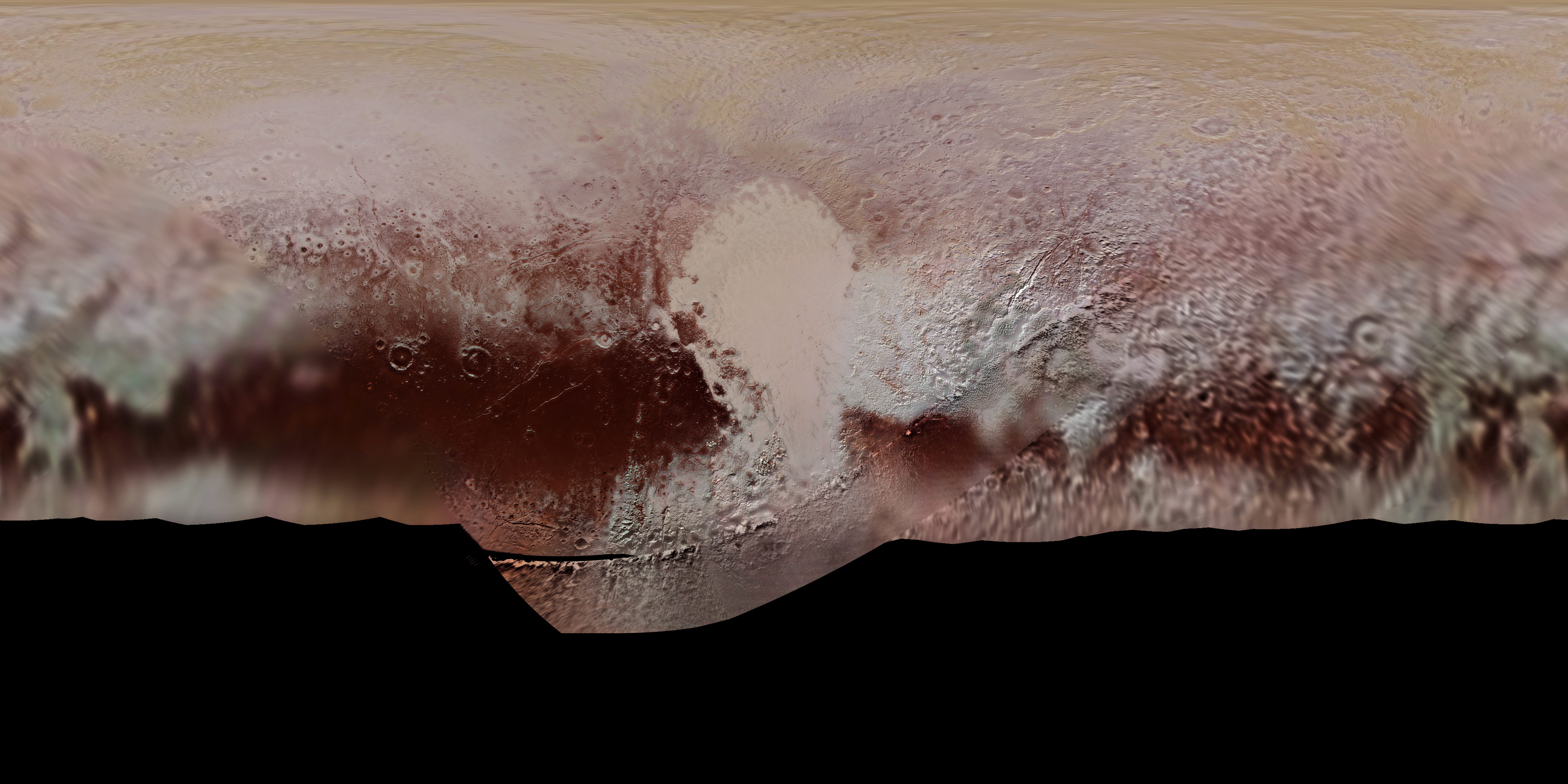 Global Color Map of Pluto