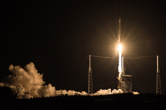 The U.S. Air Force's SBIRS Geo-3 missile warning satellite was launched into space atop a United Launch Alliance Atlas V rocket from Cape Canaveral Air Force Station, Florida on Jan. 20, 2017.