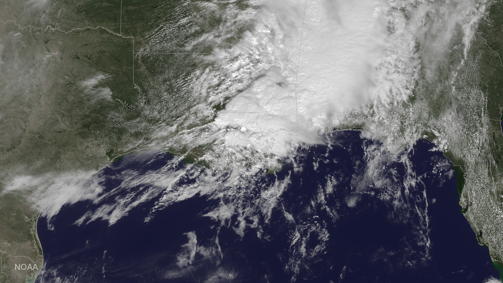 Satellite Sees Louisiana Tornado Storm System from Space