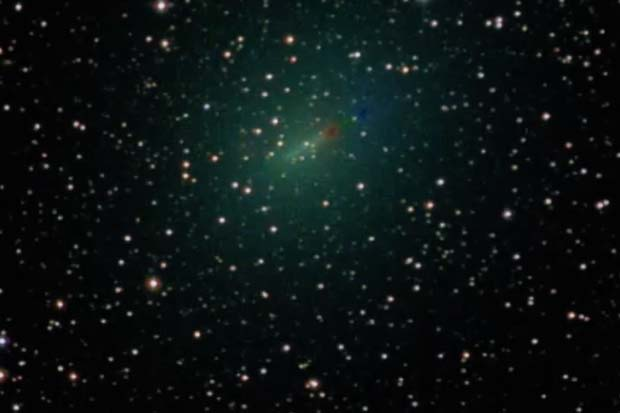 Green Comet 45P Captured by Slooh Telescopes | Video