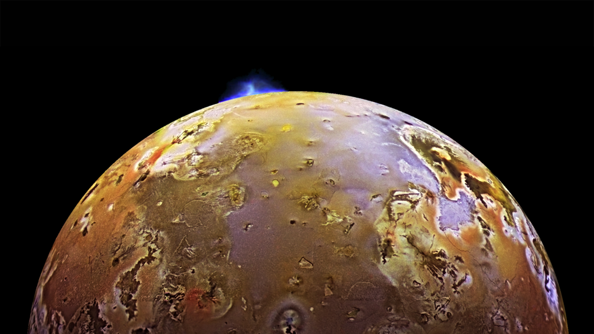 2. Jupiter's moon Io has towering volcanic eruptions