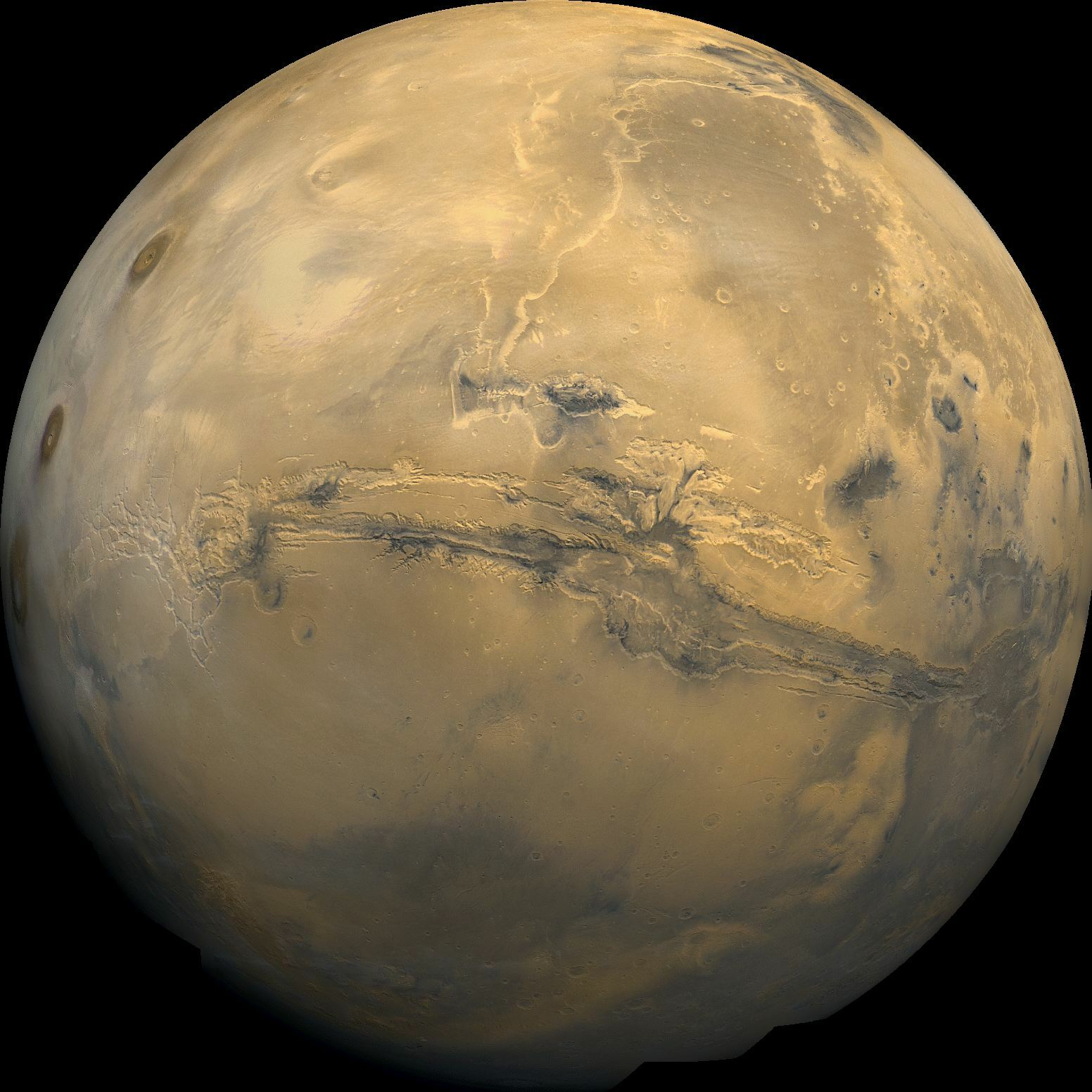 4. Mars also has the longest valley