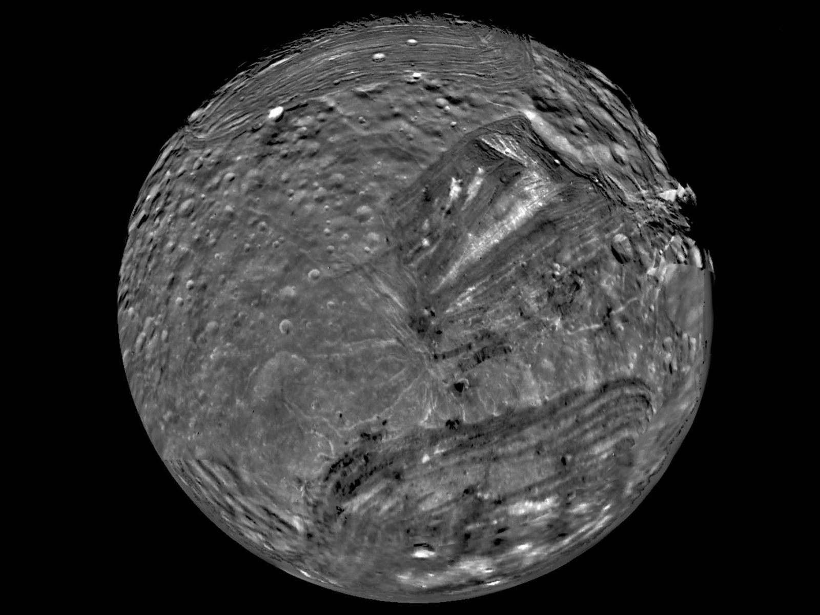 19. Uranus has a very battered moon