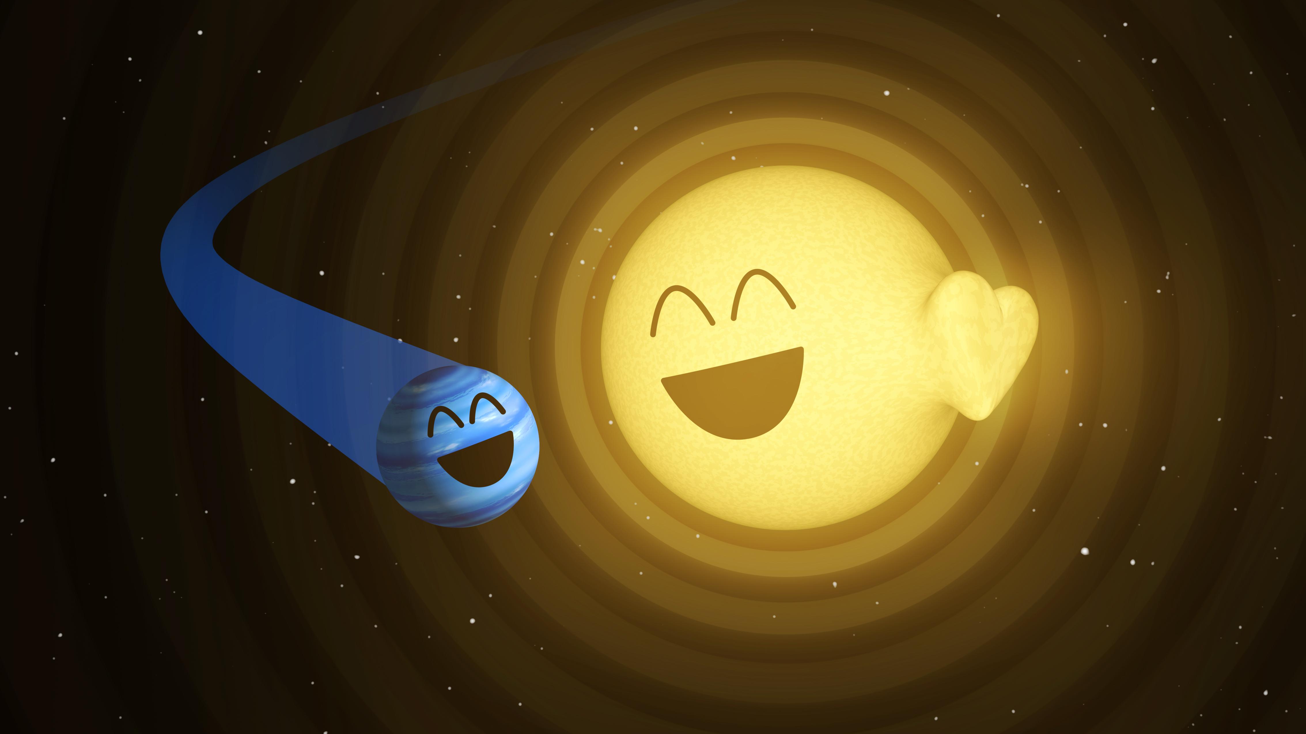 Cosmic Love: Star's Heart Beats for Giant Alien Planet