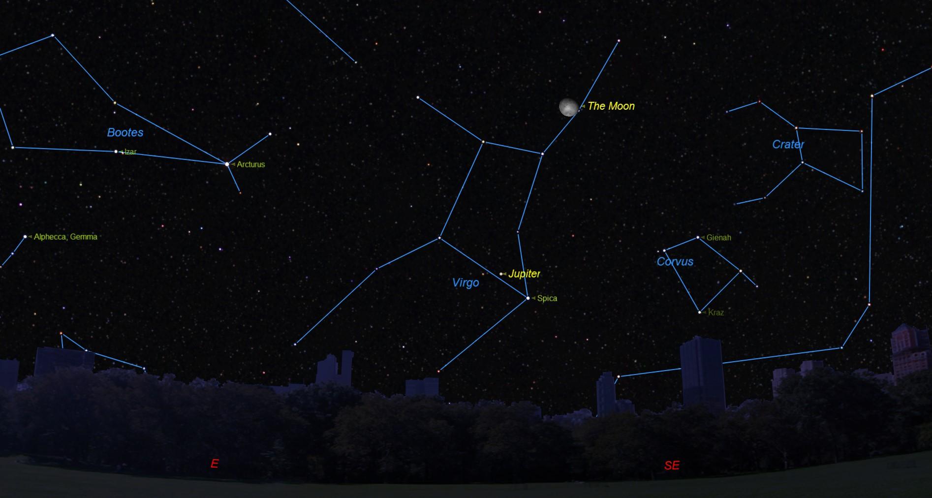 Celestial Valentine's Date: Moon, Jupiter Meet Up Tonight