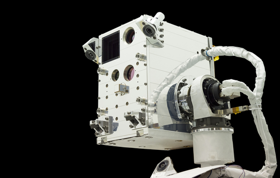 NASA's Raven technology demonstration module is shown here before its launch to the International Space Station aboard SpaceX's Dragon cargo spacecraft.