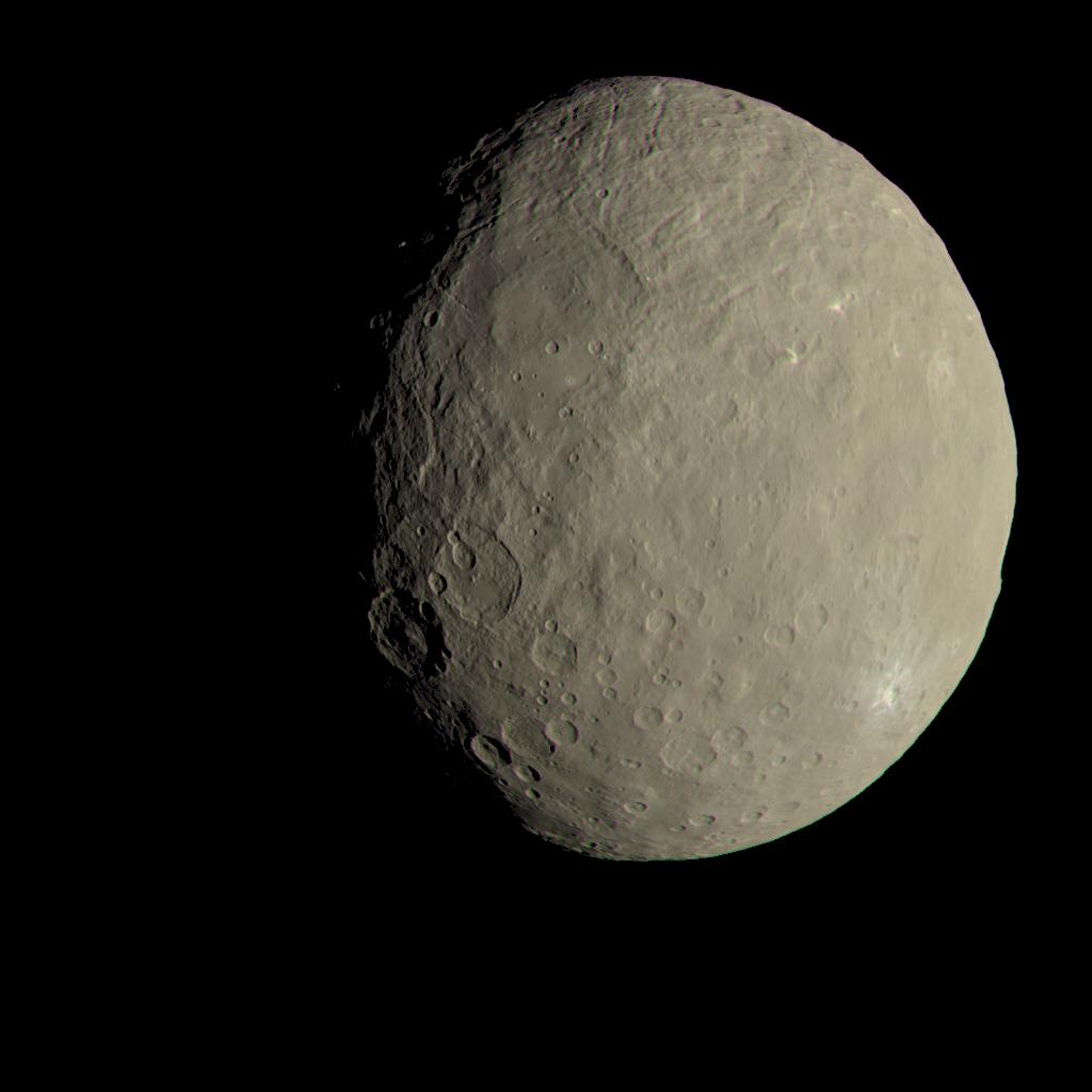 Dawn spacecraft data suggest organic materials are native to the dwarf planet