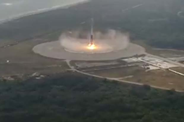 SpaceX 1st Stage Landing Captured By Drone | Video