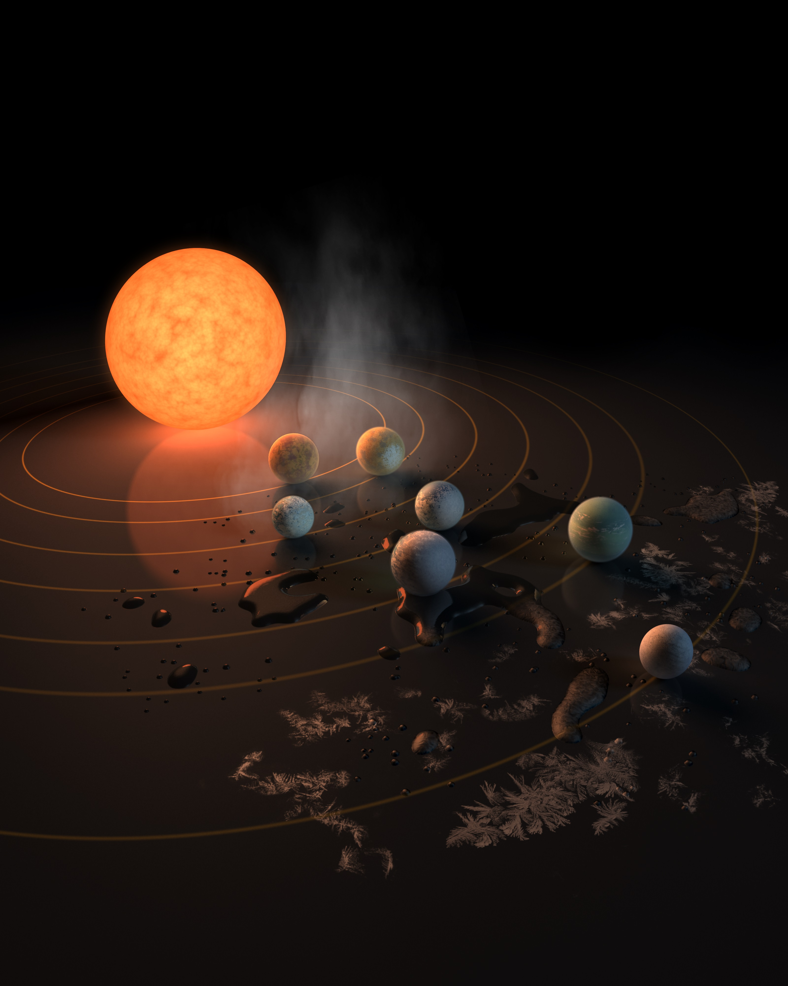Exoplanet Discovery: The 7 Earth-Sized Planets of TRAPPIST-1 in Pictures